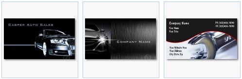 used car dealer car business card wrenches auto repair business card