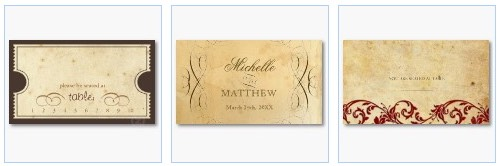 vintage wedding seating place cards