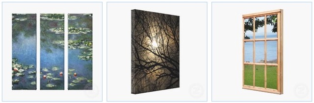 water lilies, moonlight, sea and grass 3D wrapped canvas