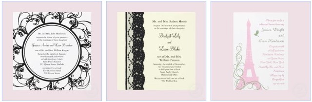 wedding invitation cards eiffel tower
