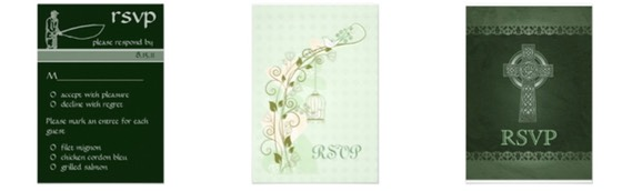 Zazzle Color Selector - Wedding Stationery Essentials for Wedding Planning in Color Green