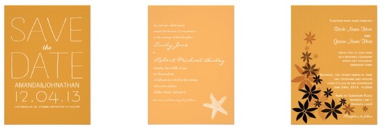 Zazzle Color Selector - Wedding Stationery Essentials for Wedding Planning in Color Orange