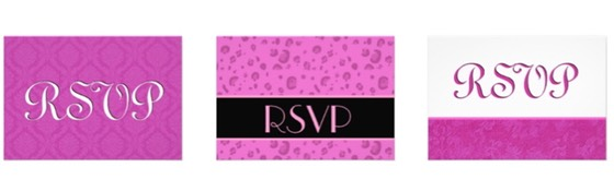 Zazzle Color Selector - Wedding Stationery Essentials for Wedding Planning in Color Pink
