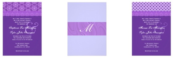 Zazzle Color Selector - Purple Wedding Stationery Essentials for Wedding Planning