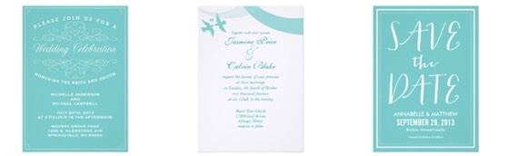 Zazzle Color Selector - Teal Wedding Stationery Essentials for Wedding Planning