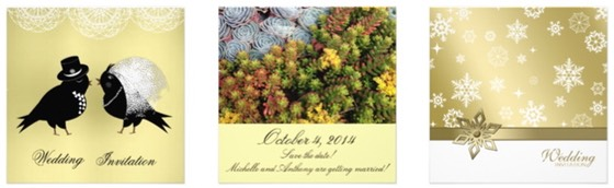 Zazzle Color Selector - Wedding Stationery Essentials for Wedding Planning in Color Yellow and Gold