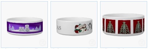 winter kitty christmas pet bowls and dishes for dogs and cats