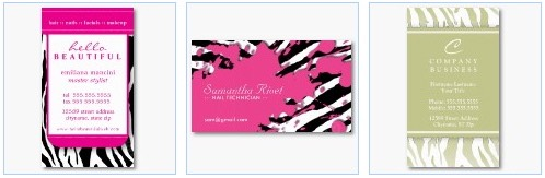 zebra stripes zebra print business card