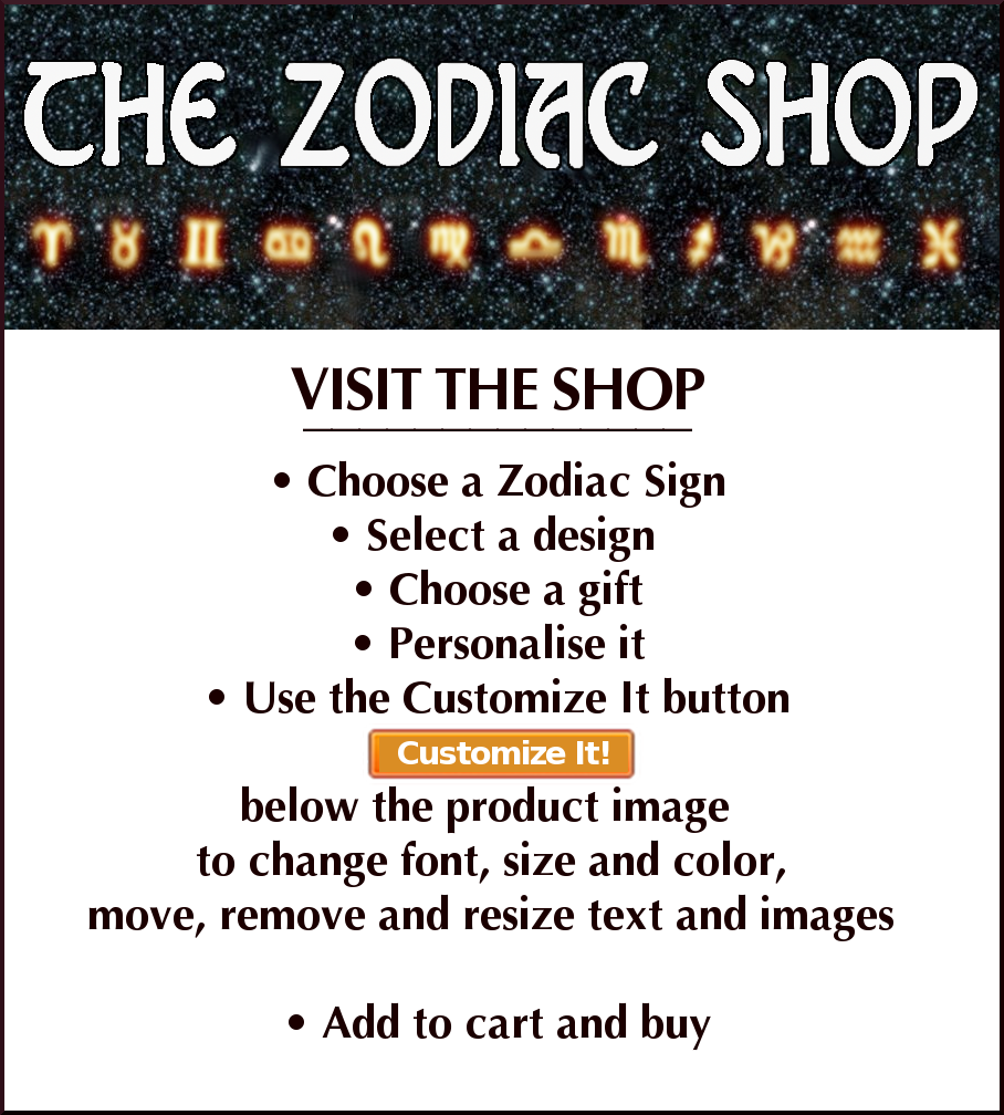 zodiac shop, zodiac sign, starsign, star sign, zodiac gift